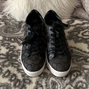 Coach Black & Gray size 7 Paddy Signature sneakers